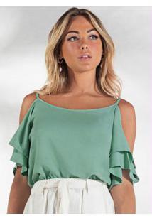Blusa De Alça Feminina Verde
