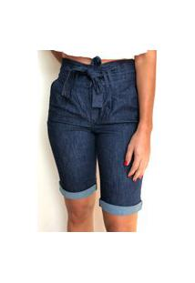 Bermuda Jeans Clochard Com Cinto - Milão - Santé Denim