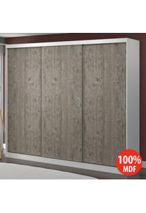 Guarda Roupa 3 Portas De Correr 100% Mdf 1904 Branco/Demolição - Foscarini