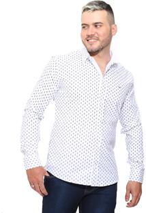 Camisa Slim Victor Deniro Ancorini Branca