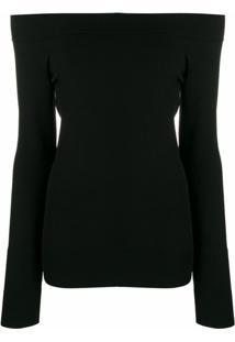Dolce & Gabbana Blusa Slim Ombro A Ombro - Preto