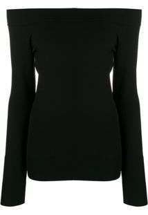 Dolce & Gabbana Off-Shoulder Fitted Top - Preto