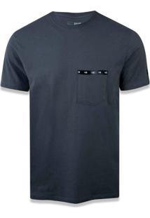 T-Shirt New Era Basico M/C New Era Brasil Chumbo