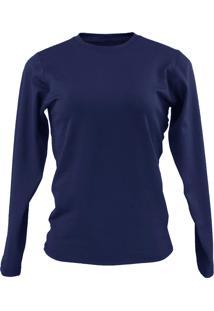 Blusa Térmica Segunda Pele Inverno Azul Marinho