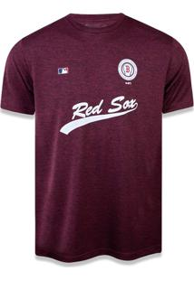 T-Shirt New Era Performance Boston Red Sox Mescla Vinho