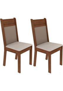 Kit 2 Cadeiras Rustic E Pérola Madesa4280