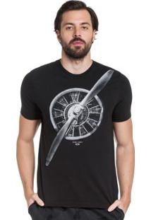 Camiseta Manga Curta Hangar 33 Preto