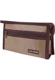 Necessaire Envelope Tam. P Lisa Jacki Design Essencial Iii Marrom - Kanui