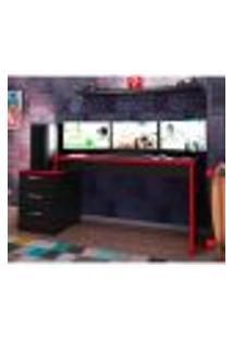 Mesa Gamer Drx Turbo 3 Gv Preta E Vermelha