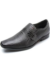 Sapato Social Couro Pegada Textura Cinza