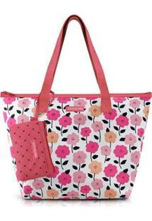 Bolsa Pink Lover Com Niqueleira - Feminino-Terracota