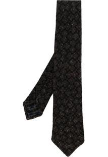 Kiton Gravata Com Textura - Marrom