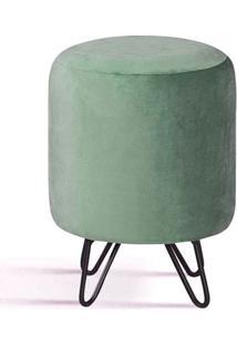 Puff Round Verde Base Estrela Preta - 49878 Sun House
