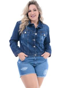 Jaqueta Jeans Attribute Jeans Destroyed Stone