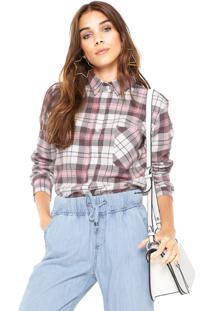 Camisa Fiveblu Xadrez Marrom/Rosa