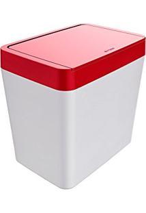 Lixeira Para Pia 5 Litros Smart (Branco/Vermelho)