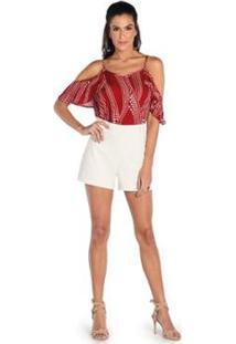 Blusa De Alça Endless Feminina - Feminino-Vermelho