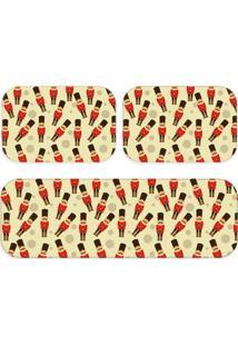 Kit 3 Tapetes Cozinha Multi Quebra Nozes Único Love Decor - Kanui