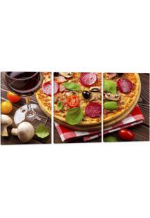 Quadro 60X120Cm Oppen House Canvas Pizza Gastronomia Lanches Vinhos Condimentos - Multicolorido - Dafiti