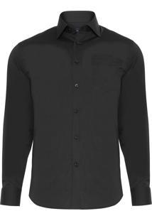 Camisa Masculina Social - Preto