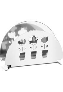 Porta Guardanapos Utility Tramontina Em Aço Inox Com Detalhes Vazados 61284120