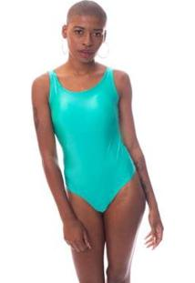Body Moda Vicio Regata Com Bojo Decote Costas Com Elastico Feminino - Feminino-Verde