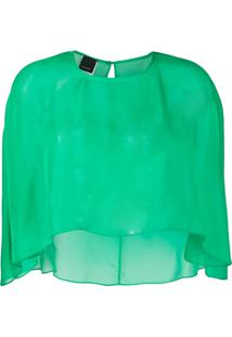 Pinko Blusa Pelerine Translúcida - Verde