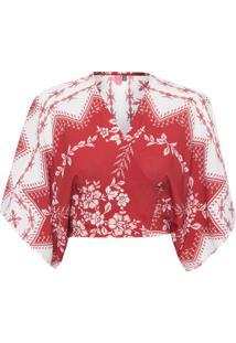 Blusa Feminina Nó Lenço Ilhabela - Vermelho