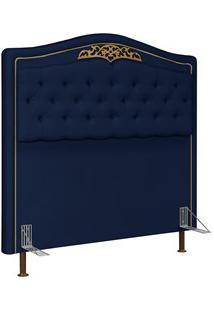 Cabeceira Cama Box Casal King 195Cm Imperial J02 Suede Azul - Mpozenat