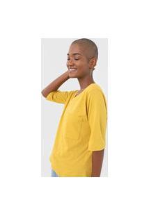 Blusa Cantão Bolso Eco Amarela