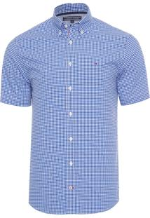 Camisa Masculina Classic Gingham - Azul