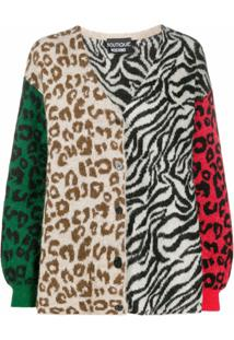 Boutique Moschino Cardigan Animal Print - Branco