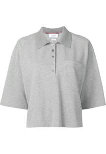 Thom Browne Camisa Polo Oversized - Cinza