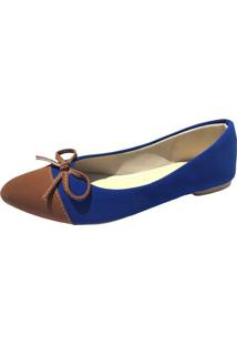 Sapatilha Azul E Marrom Megachic - Azul - Feminino - Dafiti