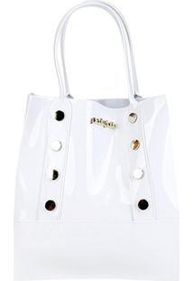 Bolsa Petite Jolie Shopper Bag Feminina - Feminino-Branco