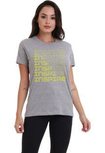 Camiseta Básica Jay Jay Inspire Neon Amarelo Mescla