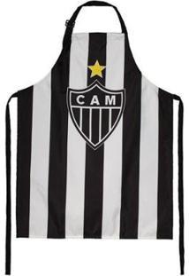 Avental Do Atlético Mineiro - Unissex-Branco+Preto