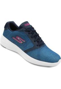 Tênis Skechers Go Run 600 Control Feminino - Feminino-Azul+Rosa