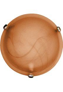 Plafon Murano Vidro 30Cm 2 Lâmpadas E-27 Max 60W Café Garra Dourada