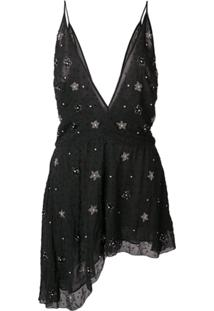 Amiri Vestido Assimétrico - Preto