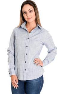 Camisa Pimenta Rosada Milena - Feminino-Azul Claro