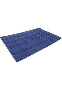 Tapete Para Piso Santista Square 50Cmx80Cm Azul - Azul - Dafiti