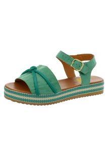 Sandália Marihá Calçados Chic Verão Fivela Verde