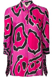 Just Cavalli Blusa Estampada - Rosa