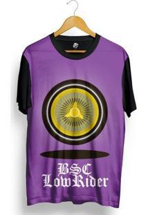 Camiseta Bsc Wheel Lowrider Full Print - Masculino-Preto