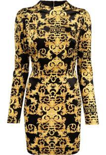 Versace Jeans Couture Vestido Acinturado - Preto