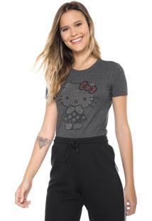 Blusa Cativa Hello Kitty Aplicações Grafite