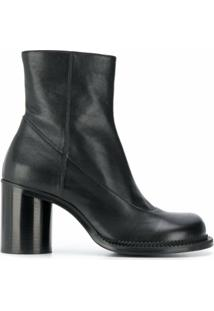 Maison Margiela Ankle Boot Com Salto Bloco - Preto