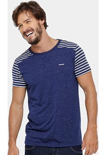 Camiseta Zune Botonê Listras Masculina - Masculino