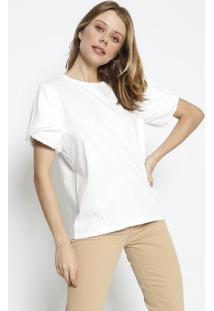 Camiseta Lisa Com Tag- Off White- Colccicolcci